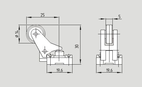 236热塑外壳滚轮直杆角度限位开关 z3k 236-02z