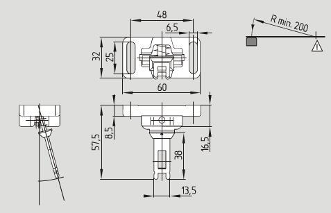 机器的控制电路只有在操动件插入开关锁内,并且锁栓在锁定位置时,才